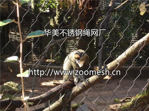 丝绳编动物_交叉编织绳网/不锈钢丝绳网--动物笼舍绳网