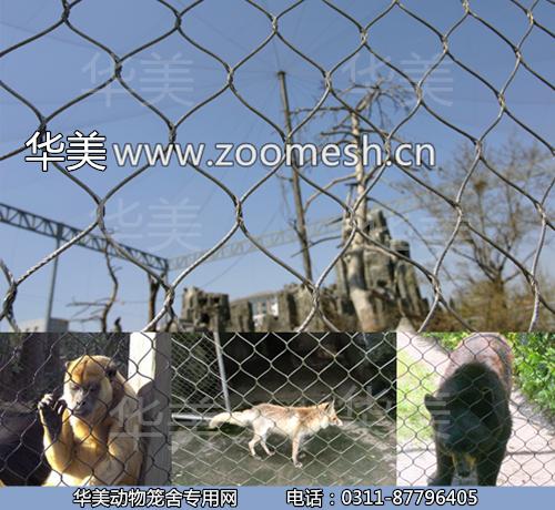 丝绳编动物_钢丝绳编织网/鸟语林围网/动物园专用防护网